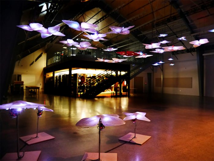 homunculus agora (h.a) by Mark-David Hosale, a large-scale architectonic installation.